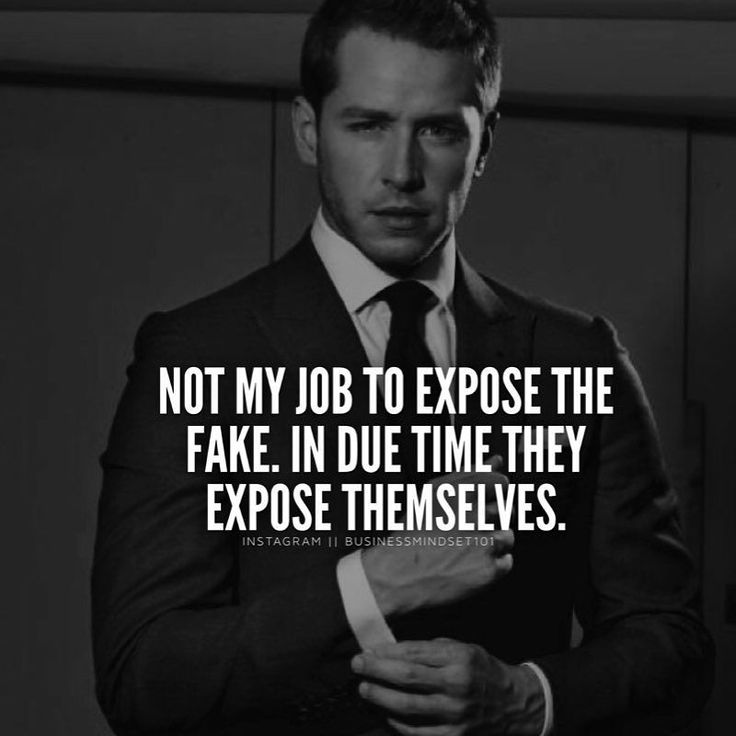 Fake people expose themselves eventually.  Tag your friends.  by businessmindset101