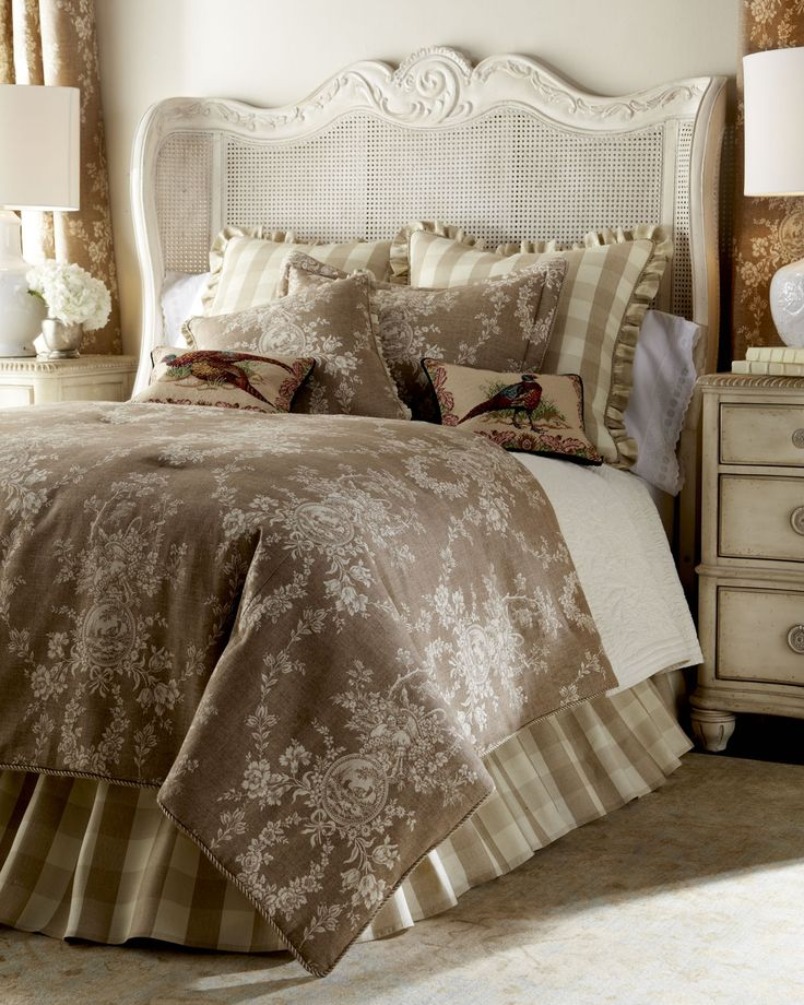 """Two 52""""W x 96""""L Country House Toile Curtains, Brown - Sherry Kline Home Collection"""