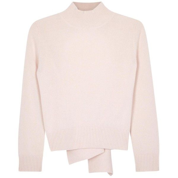 Womens Jumpers Alexander McQueen Rose Open-back Cashmere Jumper found on Polyvore featuring tops, sweaters, cashmere sweater, pink cashmere sweater, open back top, cashmere jumper and jumpers sweaters