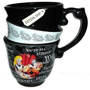 Disney Coffee Cup Mug - Alice In Wonderland - Triple Stack