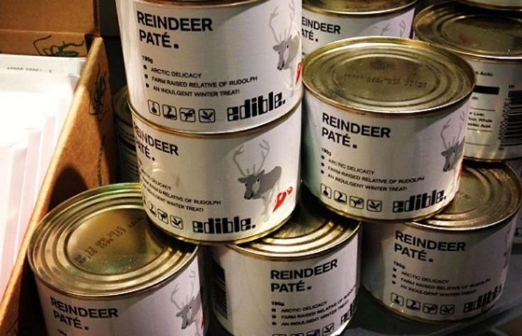 Reindeer pâté      This Arctic delicacy is made from cuts of Swedish reindeer meat and fat ground up into a spreadable paste. But reindeer meat is said to have one of the lowest fat contents of any red meats – just 2%. This might have to be the go-to pâté at Christmas time then.