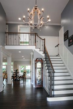 LOVE the dark wood floors with the white contrast... BEAUTIFUL!!!