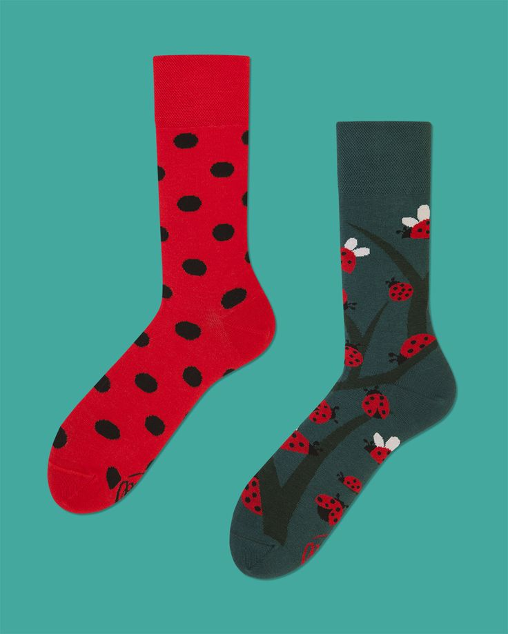 Dots & Bugs - socks by many mornings