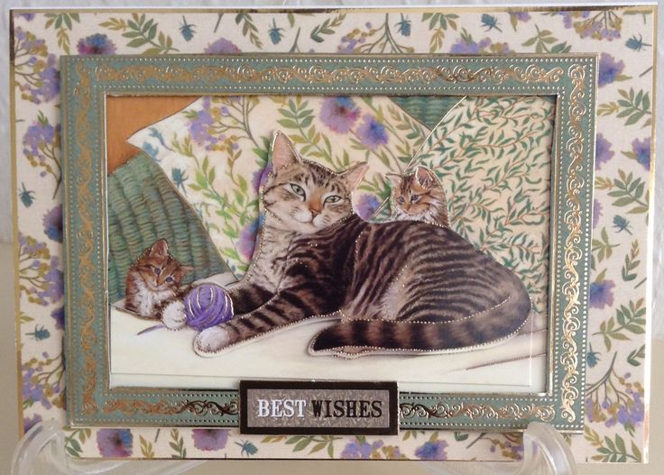 Made from Hunkydory Paws for Thought. Frame and decoupage from what was intended as a box card.