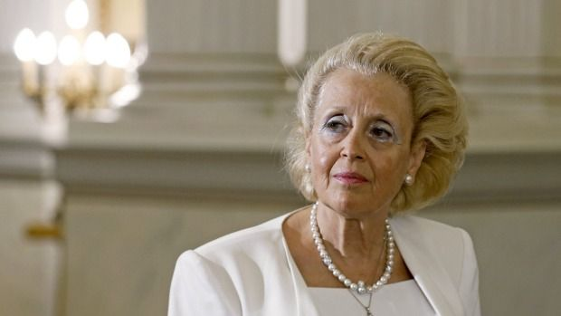 Greece's top Supreme Court judge Vassiliki Thanou attends a swearing-in ceremony as the country's caretaker prime minister at the Presidential Palace in Athens on Thursday.