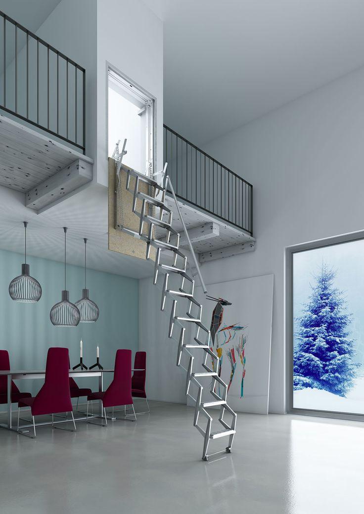 M s de 25 ideas incre bles sobre escalera escamoteable en - Escaleras plegables techo ...