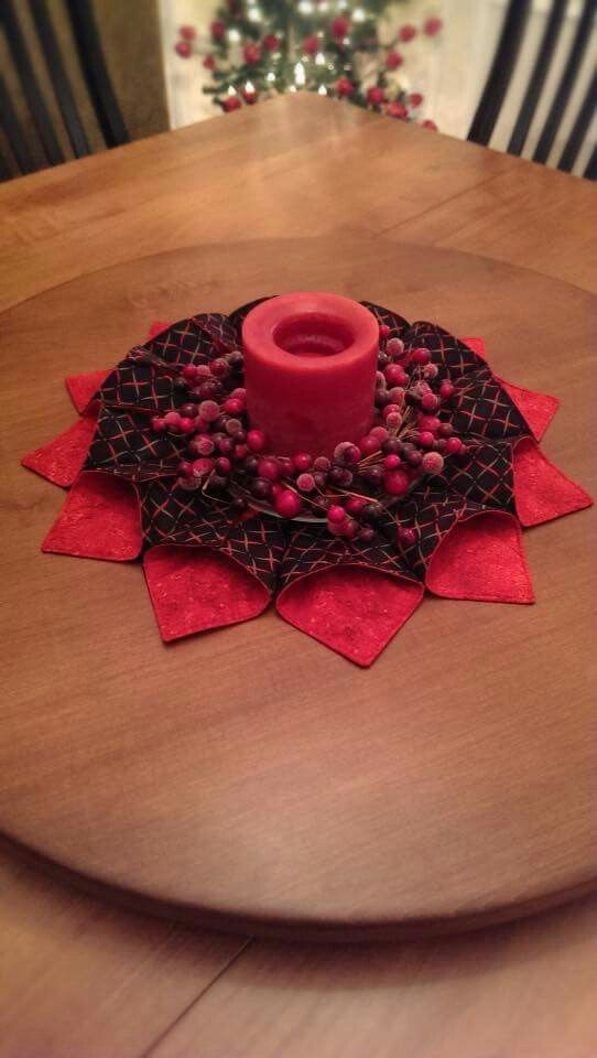 Fold and stitch wreath is the pattern.