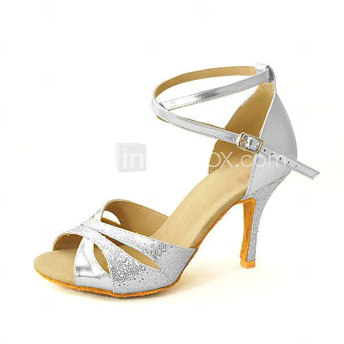 Chaussures de danse (Or/Argent/Rouge/Marron) - Personnalisable Paillettes scintillantes - Danse latine/Salle de bal - EUR €29.39