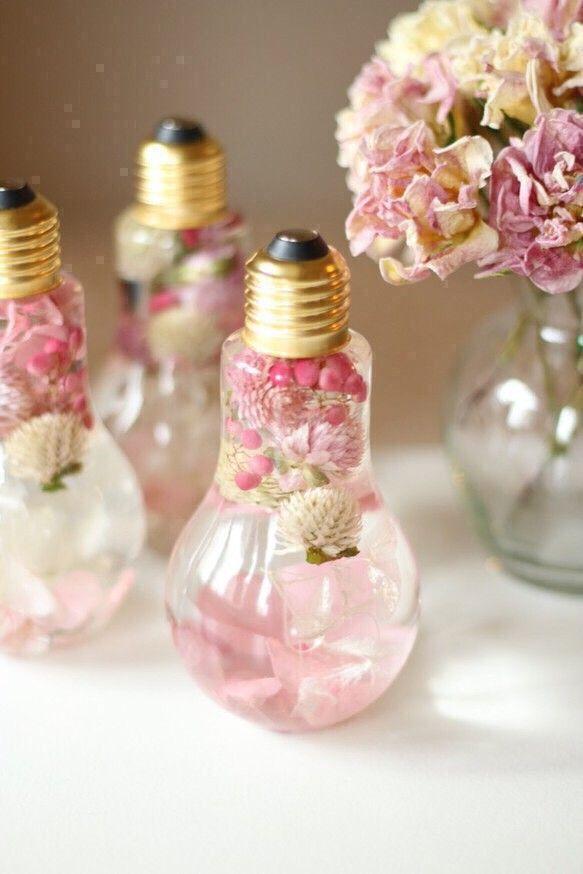 桜色ピンクのフラワーバルブハーバリウム*