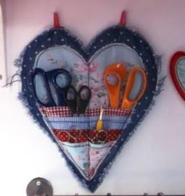 Lovely Scissor Holder | AllFreeSewing.com