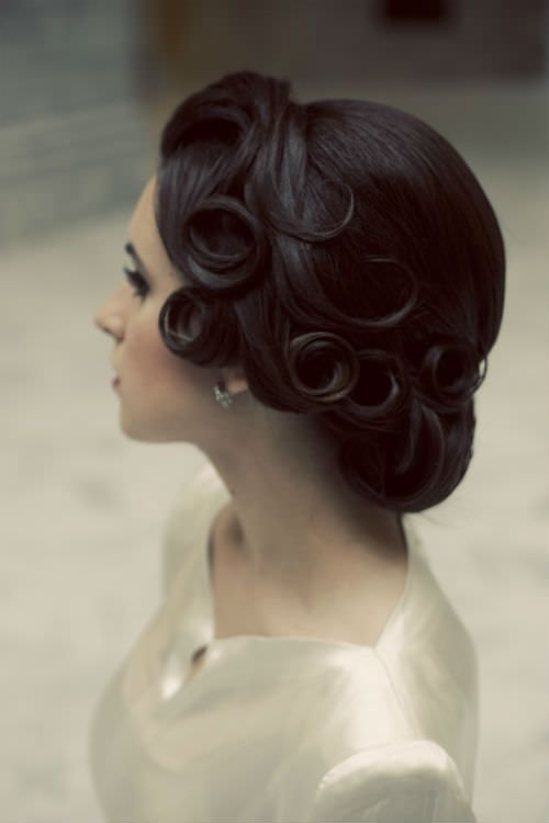 vintage updo with lovely curls