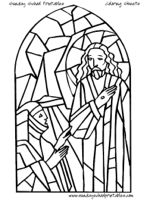 christion stain glass coloring pages | Stained Glass Coloring Pages - Bible story images for ...