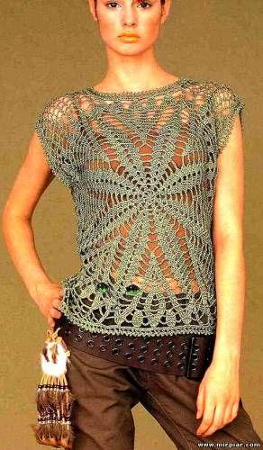 TRICO y CROCHET-madona-mía: Blusas de verano a crochet para expertas Modelos