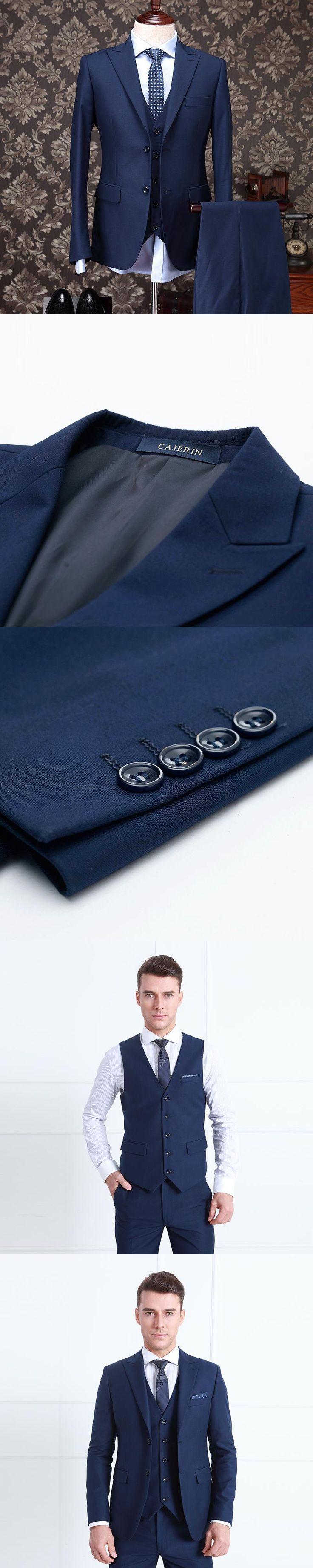 Pre Sale 30%Wool clothing men formal business wedding dress suit sets coat+vest+pant/trousers solid slim fit tuxedo dinner suit