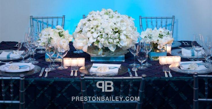 centerpiece entertaining hydrangeas lily long table low centerpieces peony table setting tulip color|blue color|white amaryllis ranunculus lisianthus