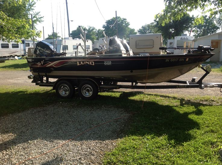Our boat. Name All Right Then 1999 Lund ProV 150HP