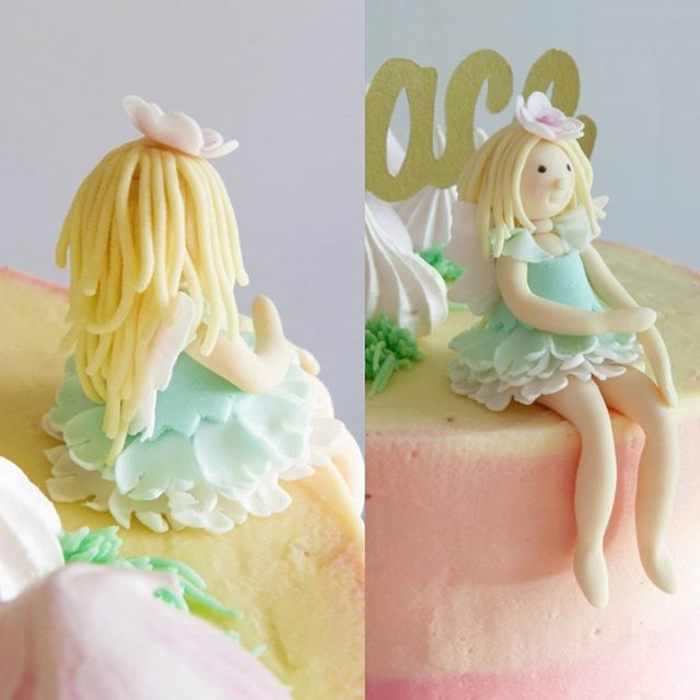 Took me forever to make this fairy but really happy with it in the end #fairy #gumpastefigure