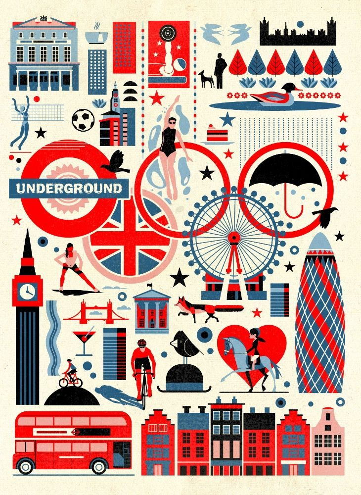 London #icons #illustrations #travel