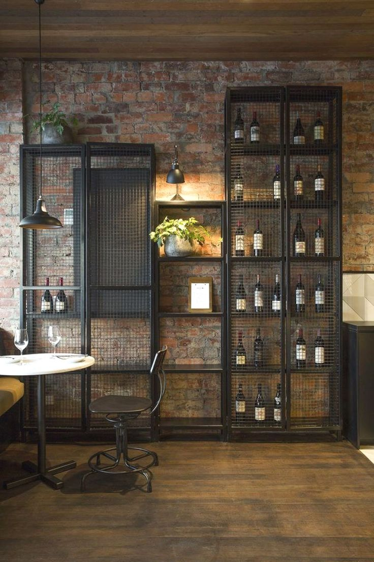 Industrial interior design style is characterized by concrete floors, brick wall…