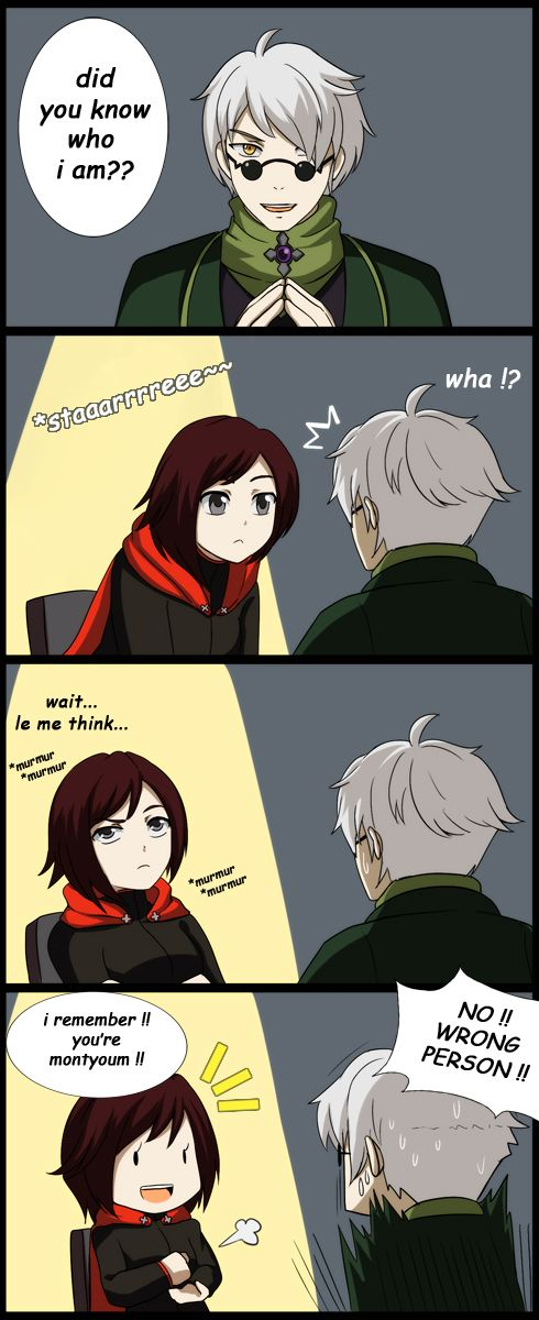 omake from episode 1 when ruby meet ozpin the head master it just me or ozpin model bit looks like montyoum NB : Ozpin was originally supposed to be voiced by Monty Oum RWBY (c) *montyoum
