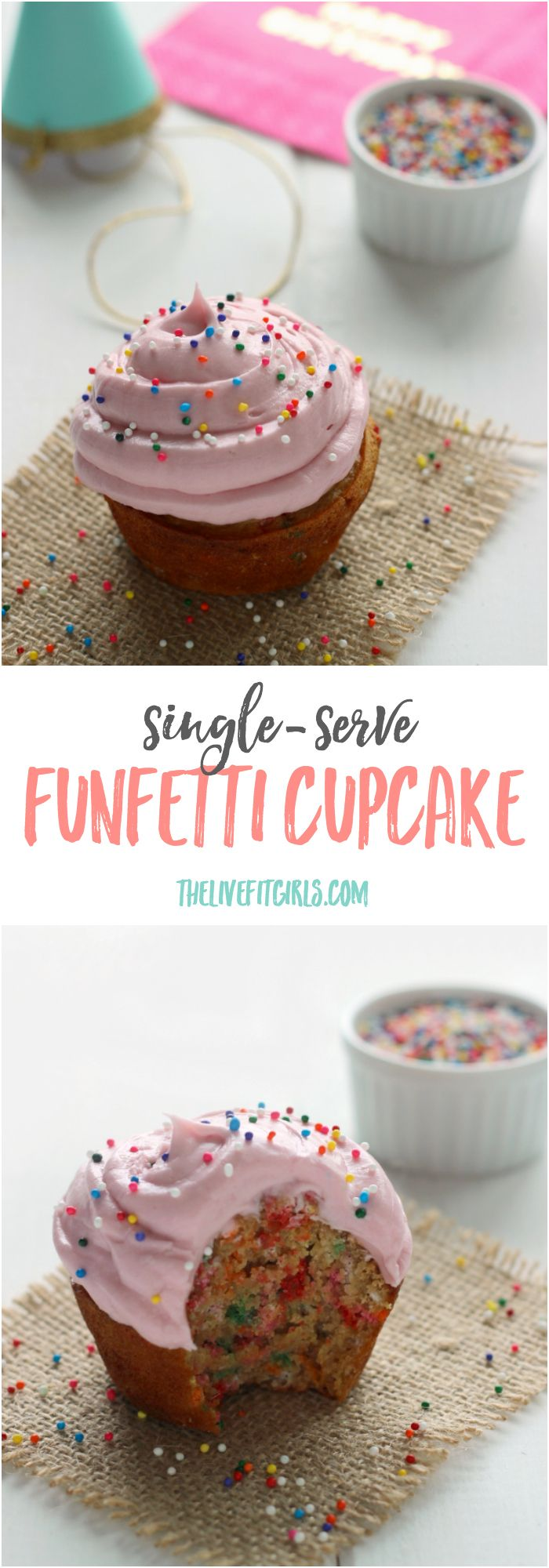 Celebrate ANY occasion with a SINGLE Funfetti cupcake...that also happens to be healthy! ;)