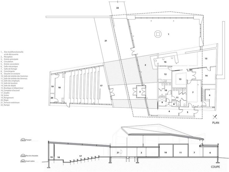Discovery Centre for the Mont-Tremblant National Park,Floor Plan