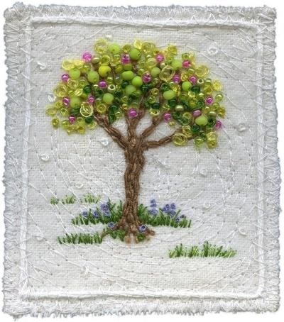 Beaded tree by Kristen chursinoff