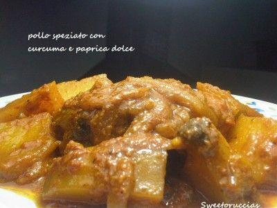 pollo speziato con curcuma e paprica dolce