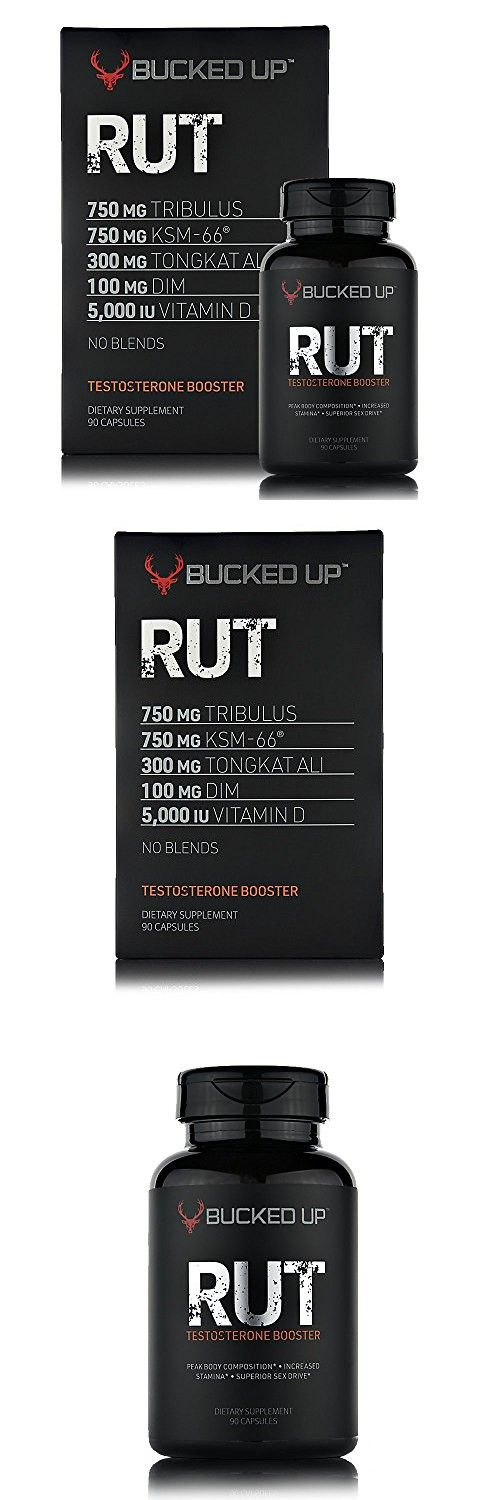 RUT - Testosterone Booster (90 Capsules) Natural Endurance, Strength and Stamina Booster - Peak Body Composition - Builds Muscle Fast