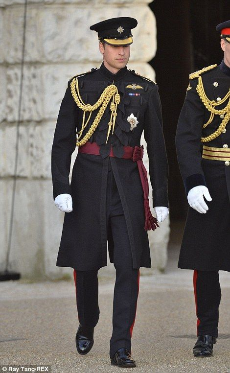 dailymail:  The Duke of Cambridge wore the uniform of the Irish Guards, of which he is a Royal Colonel, at Beating Retreat which took place at Horse Guards in Whitehall, June 12, 2014