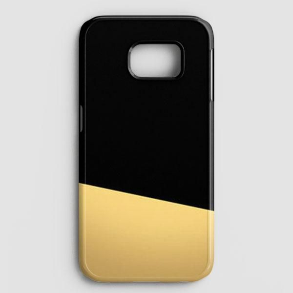 Black And Gold Color Block Samsung Galaxy S7 Case