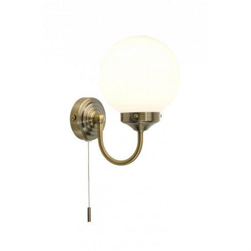 Dar Lighting Barclay Bathroom Wall Fitting in Antique Brass Finish