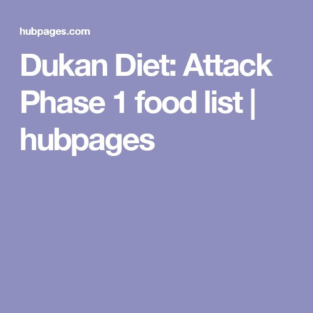 Dukan Diet: Attack Phase 1 food list | hubpages