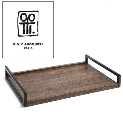 Luxury Designer R & Y Augousti Paris France Python Leather