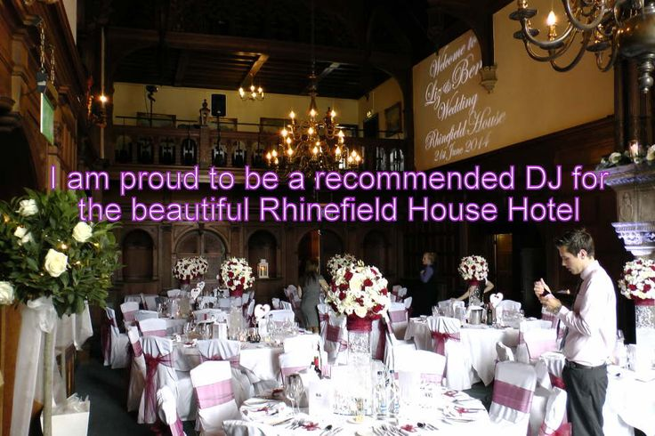 I am proud to be a recommended DJ for the beautiful Rhinefield House Hotel - DJ Martin Lake