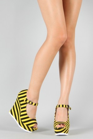 Black and yellow, black and yellow wedges