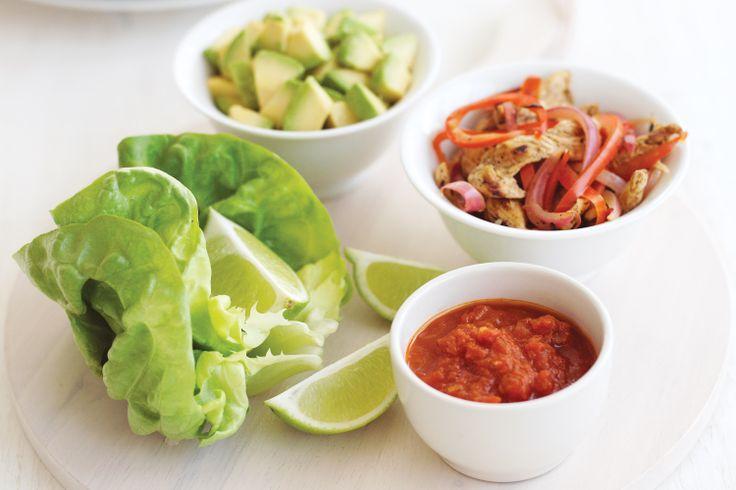 Lettuce-wrapped Chicken Fajitas Recipe - Taste.com.au 7 propoints