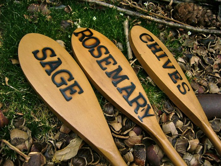 137 best images about plant markers on pinterest herb for Markers for wood crafts