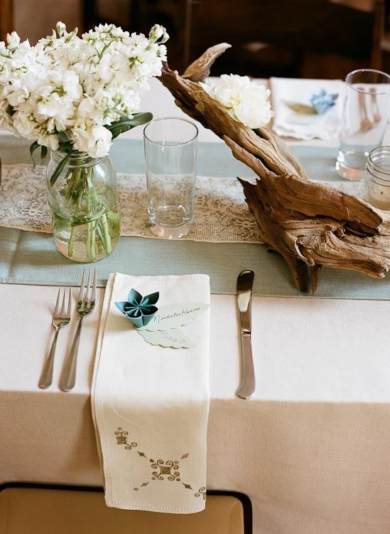 156 best images about chapel decorations on pinterest for Driftwood table centerpieces