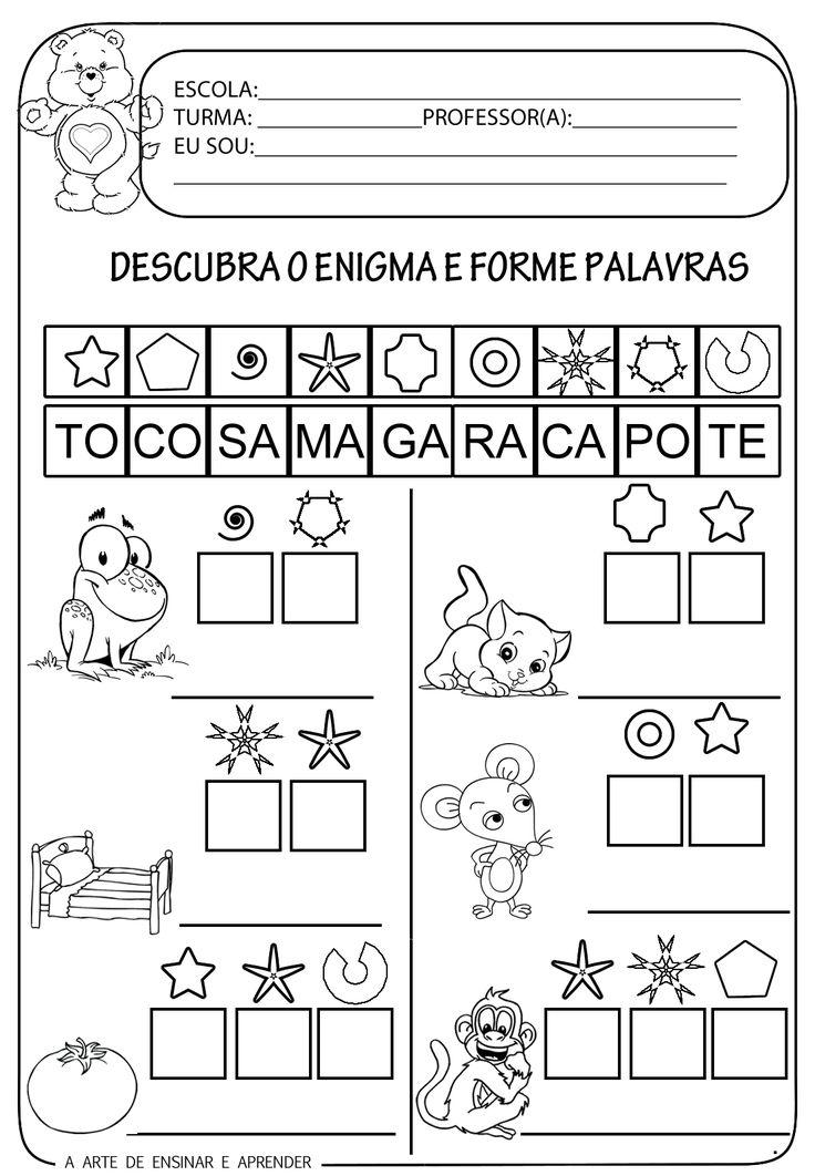 A Arte de Ensinar e Aprender: Atividade pronta - Formação de palavras