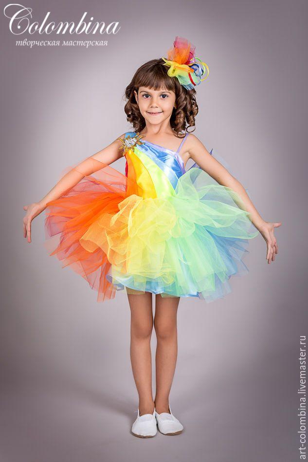 Купить Костюм радуги - разноцветный, радуга, костюм радуги, карнавальные костюмы, новогодние костюмы, атлас