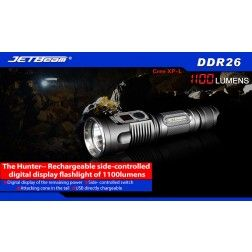 JETBeam DDR26 Rechargeable Digital Display Flashlight (1100 lumens)