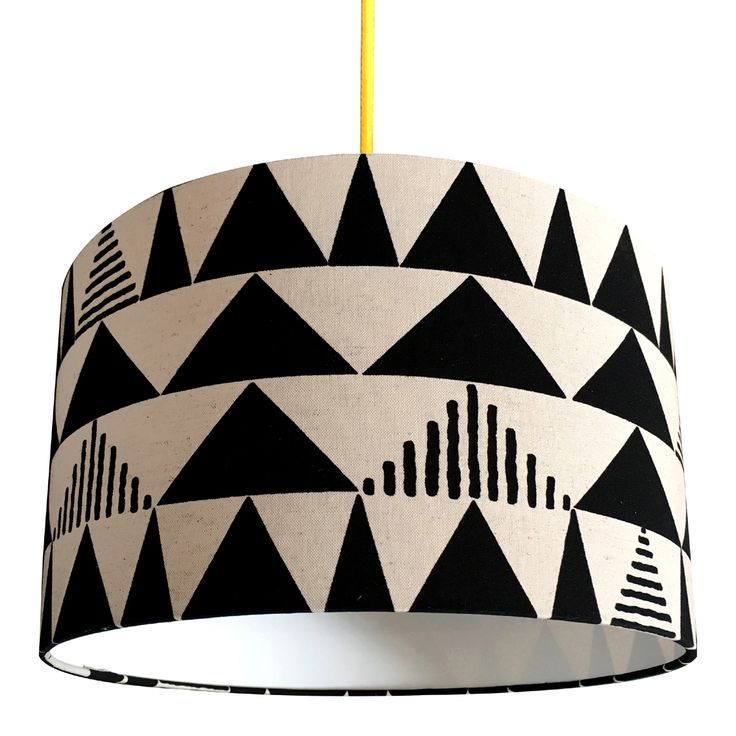 Tribal Lampshade in Japanese Linen by Love Frankie