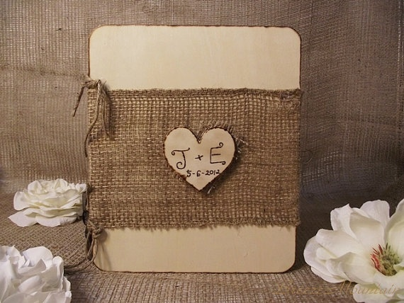 Wedding Guest Book Wood Rustic Chic Wedding by breezemountain8, $29.99