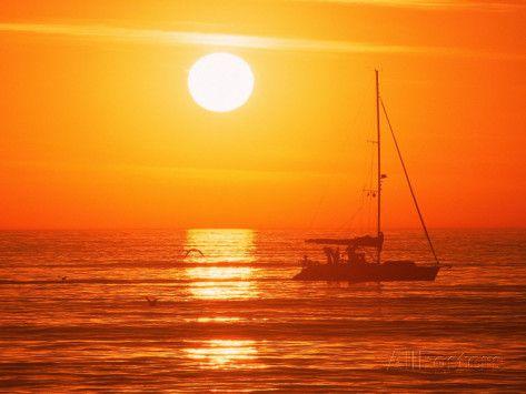 Boats in Harbor, Playa Del Rey, CA Photographic Print by Harvey Schwartz - AllPosters.co.uk