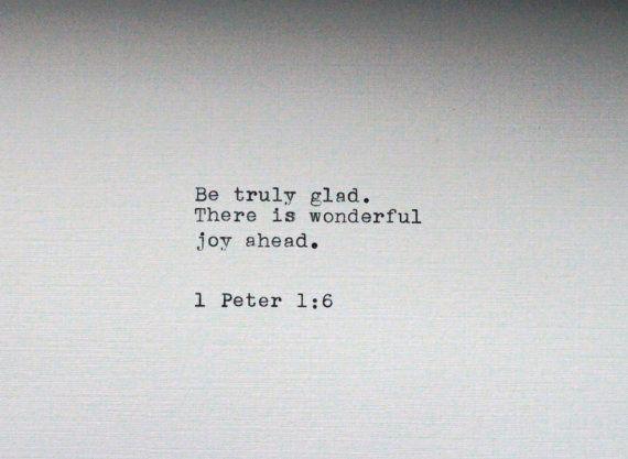 Bible Verse Typed On A Vintage Typewriter Joyful Inspirational