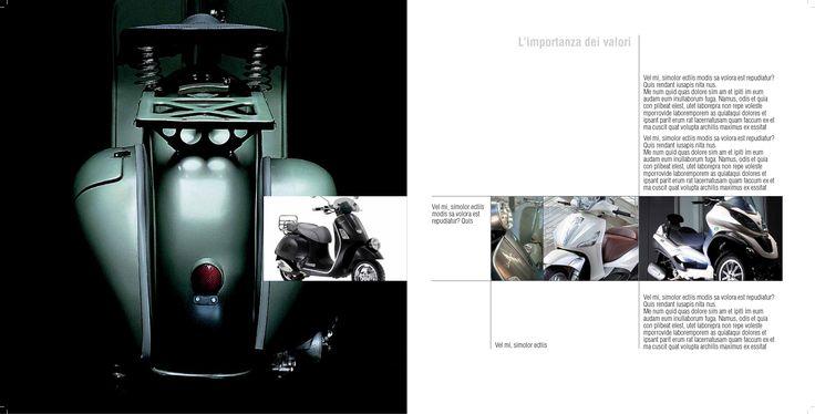 CLIENTE Gruppo Piaggio, Company profile per Piaggio, storico produttore italiano di veicoli a due ruote #companyprofile #piaggio #motore #grafica #design #comunicazione