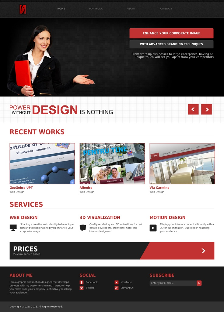 High quality web design, 3D visualization, motion graphics, video and e-commerce services.