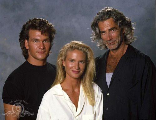 Patrick Swayze, Kelly Lynch and Sam Elliott in ROADHOUSE, 1988