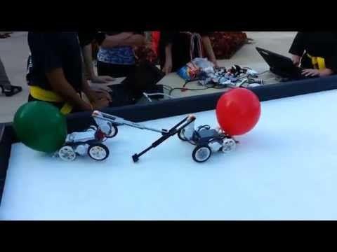 NXT Balloon Battle Bots - YouTube